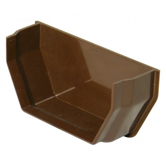 114mm Brown Square Gutter Internal Stop End