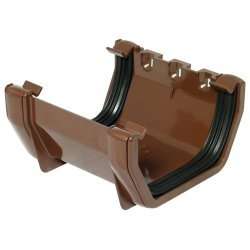 114mm Brown Square Gutter Union Joint