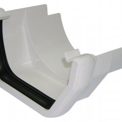 White Square Gutter to Cast Iron Adapter (RDS5W)