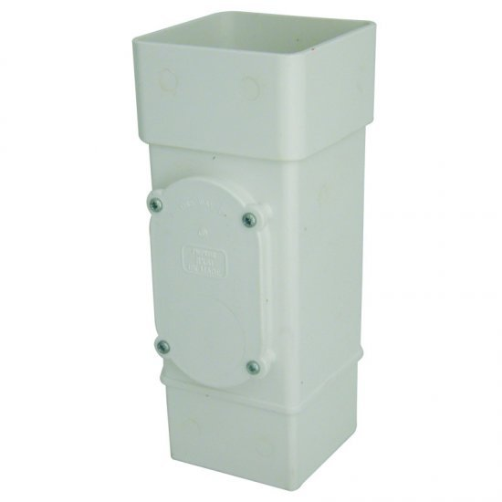 White Square Down Pipe Access Pipe (RXS1W)