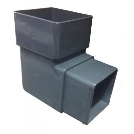 Anthracite Grey Square Downpipe 92.5º Offset Bend