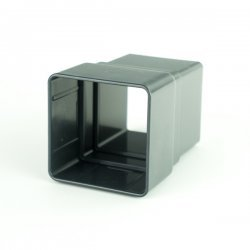Anthracite Grey Square Downpipe Socket RAL 7016