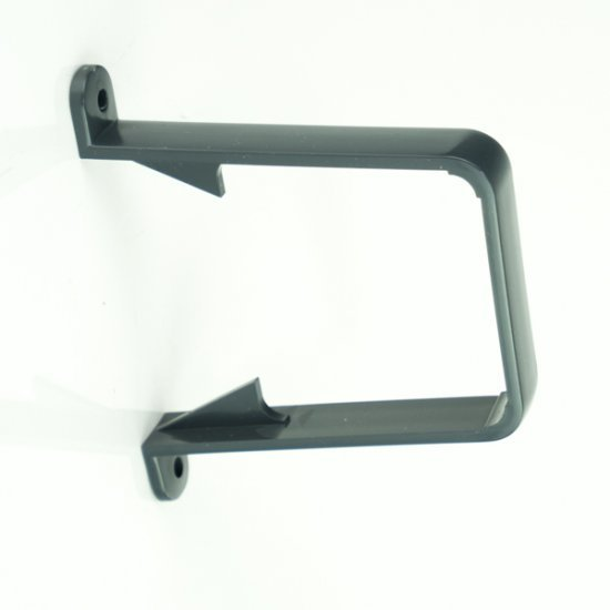 Anthracite Grey Square Pipe Clip RAL 7016