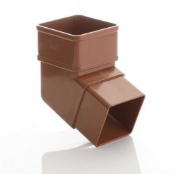 Caramel Square Down Pipe 112 Degree Off Set Bend
