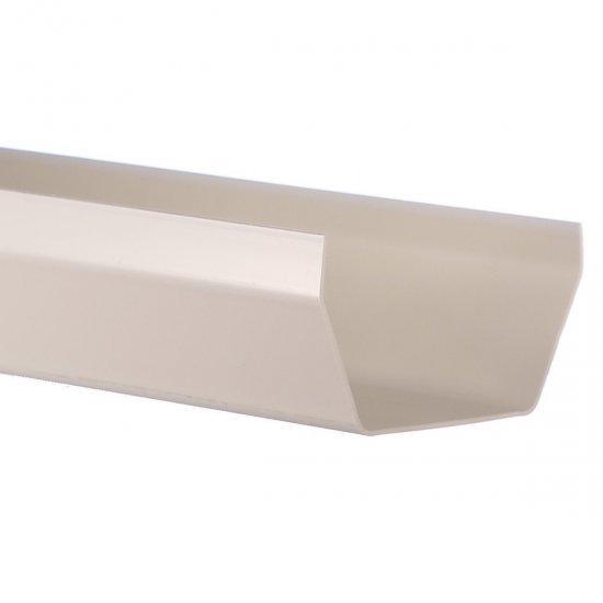 5m White Square Gutter 114mm Wide From Bristol