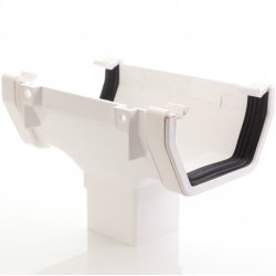 White Square Running Outlet  (AOS1W) Aquaflow