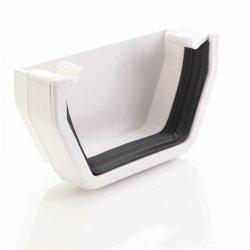 White Square Gutter External Stop End