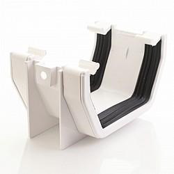 White Square Gutter Union Joint - Aquaflow