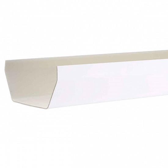 Square Gutter 2 m length 114 mm White - Aquaflow