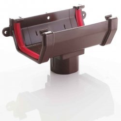 Running Outlet For Square Brown Guttering