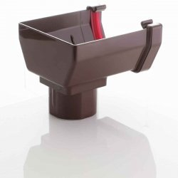 Stop End Running Outlet For Square Brown Guttering