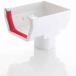 Stop End Running Outlet For Square White Guttering