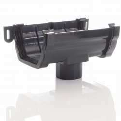 Anthracite Ogee Gutter Running OutLet