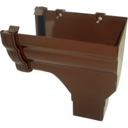 Niagara Brown Gutter Stop End Outlet