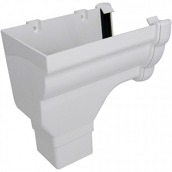 Niagara White Gutter Stop End Outlet