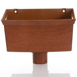 Golden Light Oak Gutter Hopper