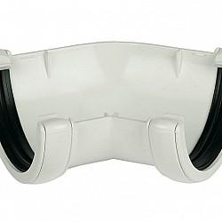 White 115mm Deep Flow 135º Gutter  Angle