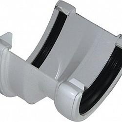 White 115mm Deep Flow To112mm1/2 Round Gutter Convertor