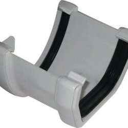 White 115mm Deep Flow To 114mm Square Gutter Convertor