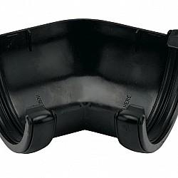 112mm Black Half Round 135º Gutter Angle