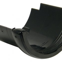 112mm Black Half Round Round to Cast Gutter Adapter (RD5B)