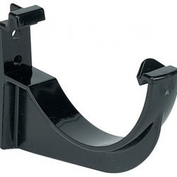 112mm Black Half Round Gutter Fascia Bracket