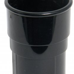 Black Round Down Pipe Joint 68 mm