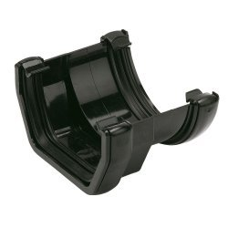 Square To 112mm Round Black Gutter Adapter (RDS1B)
