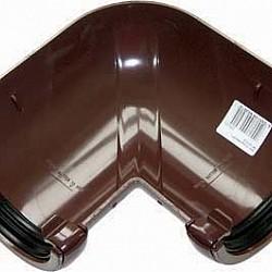 112mm Brown Half Round Universal 90º Gutter Angle