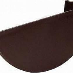 112mm Brown Half Round Gutter Internal Stop End