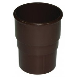 Brown Round Downpipe Joint Socket 68mm
