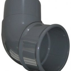 68mm Grey Round Downpipe 112º Off Set Bend