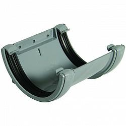 112mm Grey Half Round Gutter Union Joint