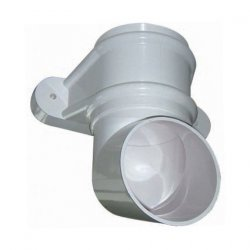 White Round Classic Downpipe Shoe - With Lugs (RB4W)