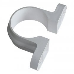 68mm White Round Classic Downpipe Clips - With Lugs (RC4W)