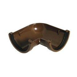 90º Angle -  76mm Miniflo Gutter - Brown