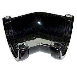 135º Angle -76mm Miniflo MIni Guttering - Black