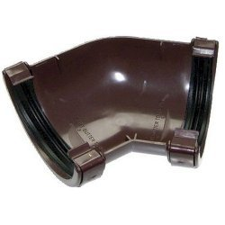 135º Angle - 76mm Miniflo Guttering - Brown