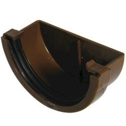 External Stopend - 76mm Miniflo Gutter - Brown
