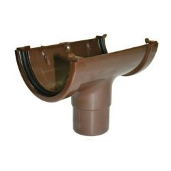 Running Outlet - 76mm Miniflo Gutter - Brown