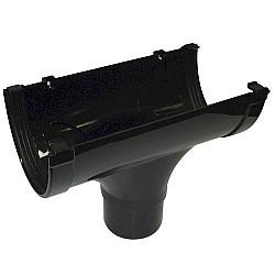 Xtraflo 170mm Gutter Running Outlet - Black