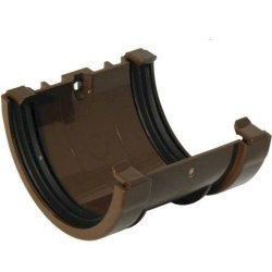 Union Bracket - 76mm Miniflo Gutter - Brown