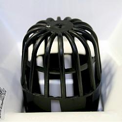 Gutter Balloon Guard Leaf Blocker in Black
