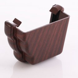 Mahogany Ogee Niagara External Gutter Stop End - Right Hand