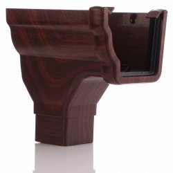 Mahogany Ogee Niagara Gutter Stopend Outlet - Left Hand