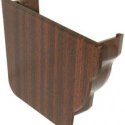Mahogany Ogee Niagara Internal Gutter Stop End - Left Hand