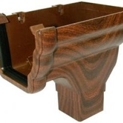 Mahogany Ogee Niagara Gutter Stopend Outlet - Right Hand