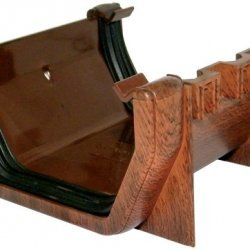 Mahogany Square Gutter Union Bracket