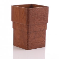 Golden Light Oak Gutter Downpipe Socket