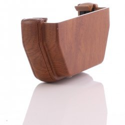 Golden Light Oak Square External Gutter Stop End